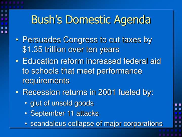 Bush's Domestic Agenda
