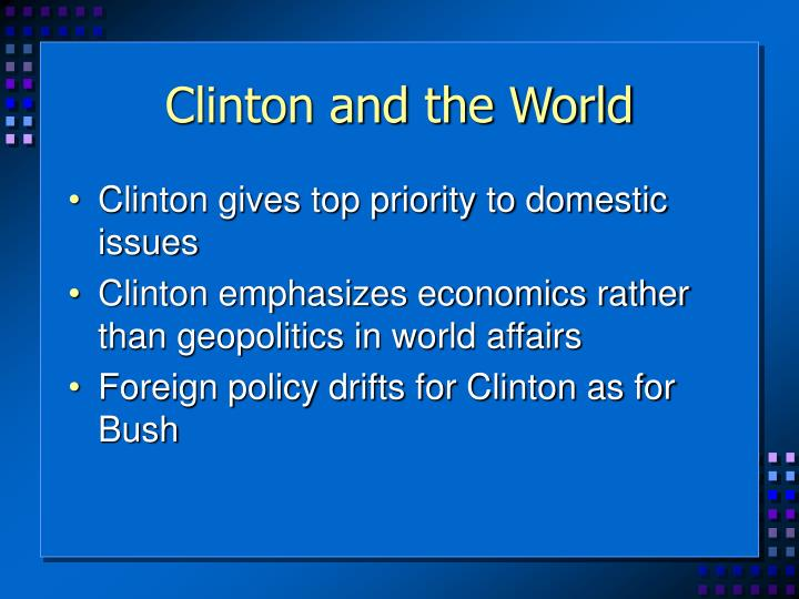 Clinton and the World