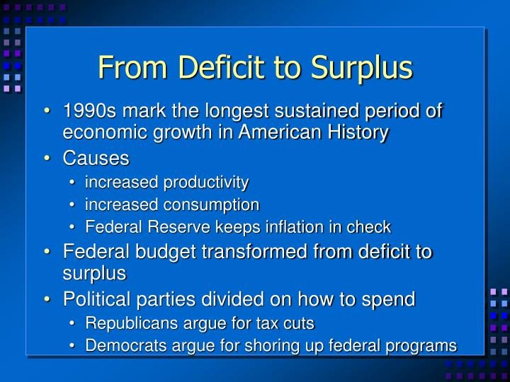From Deficit to Surplus