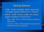 saving kosovo