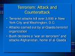 terrorism attack and counterattack