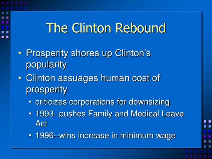The Clinton Rebound