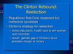 the clinton rebound reelection