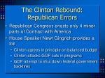 the clinton rebound republican errors