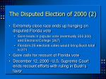 the disputed election of 2000 2
