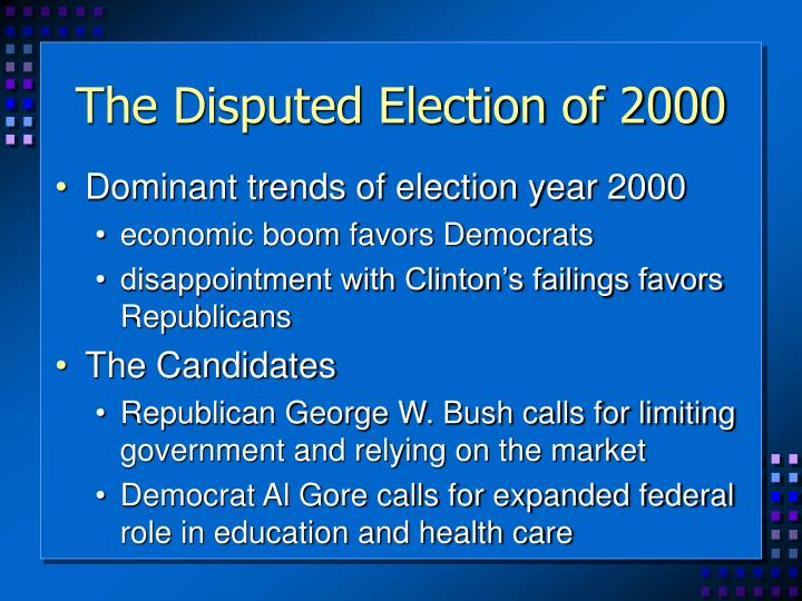 The Disputed Election of 2000