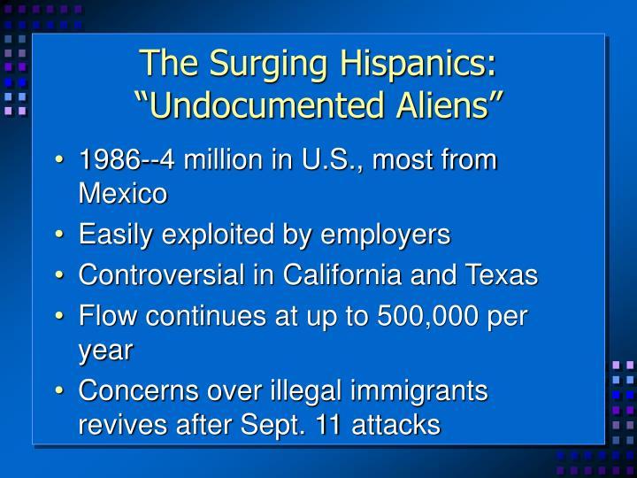 """The Surging Hispanics: """"Undocumented Aliens"""""""