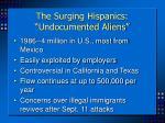 the surging hispanics undocumented aliens