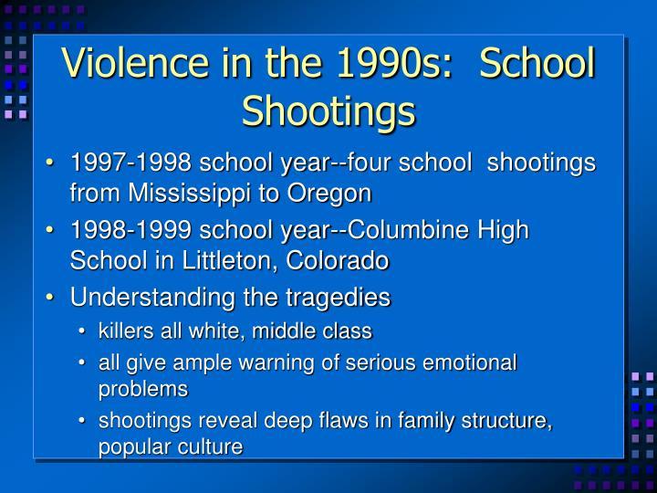 Violence in the 1990s:  School Shootings
