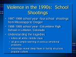 violence in the 1990s school shootings