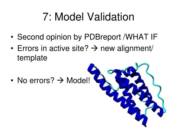 7: Model Validation