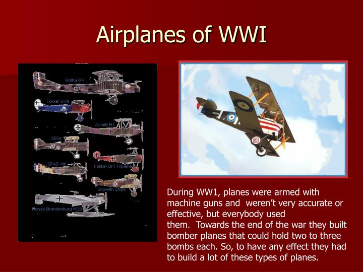 Airplanes of WWI