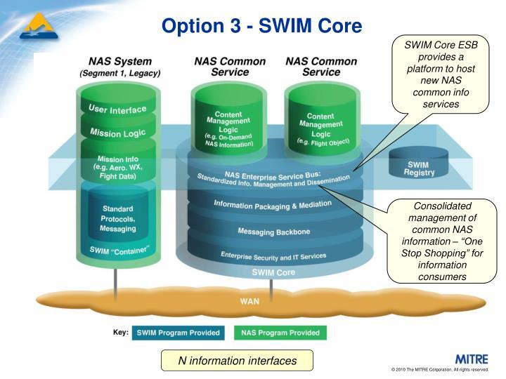 Option 3 - SWIM Core