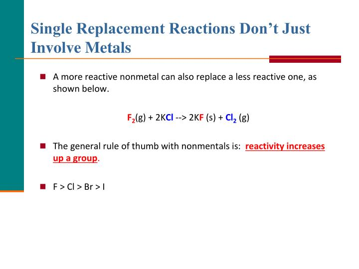 Single Replacement Reactions Don't Just Involve Metals
