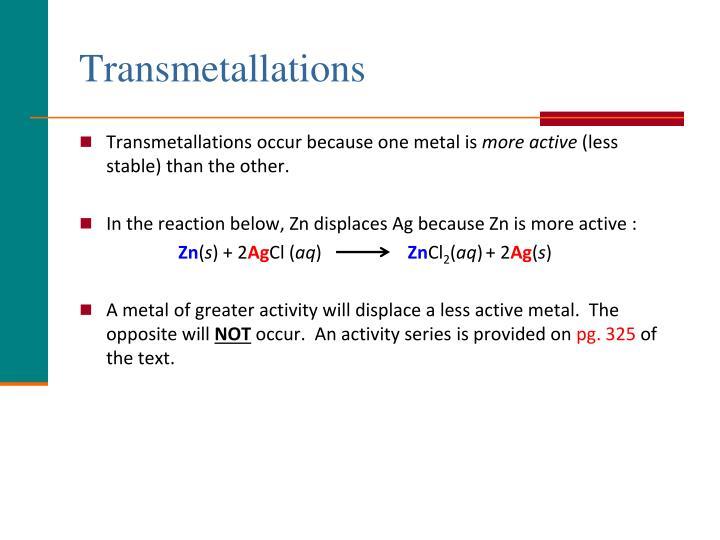 Transmetallations