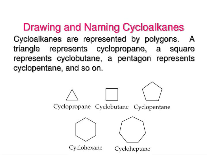 Drawing and Naming Cycloalkanes