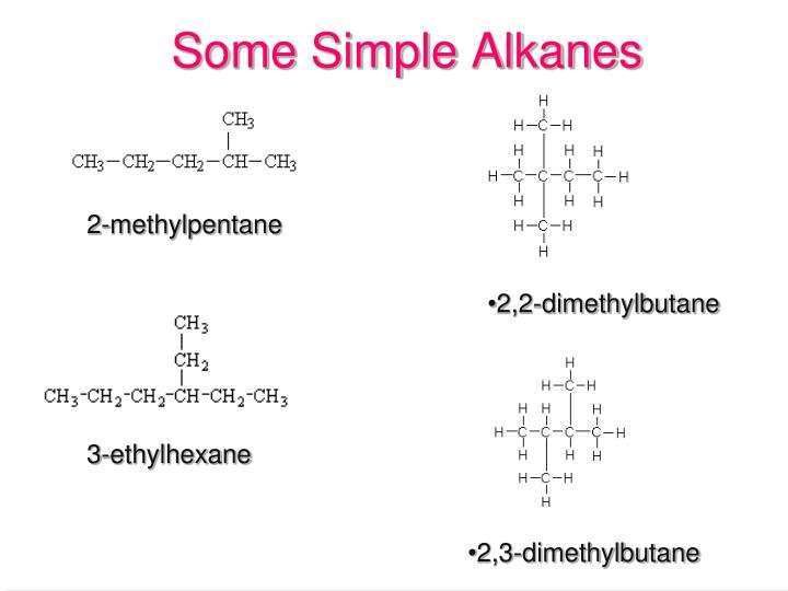 Some Simple Alkanes