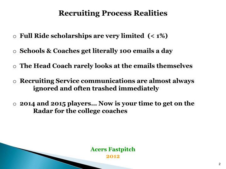 Recruiting Process Realities