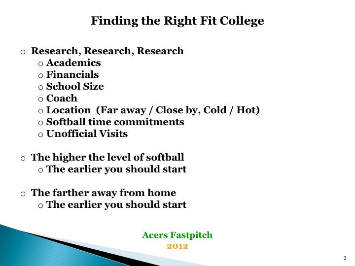 Finding the Right Fit College