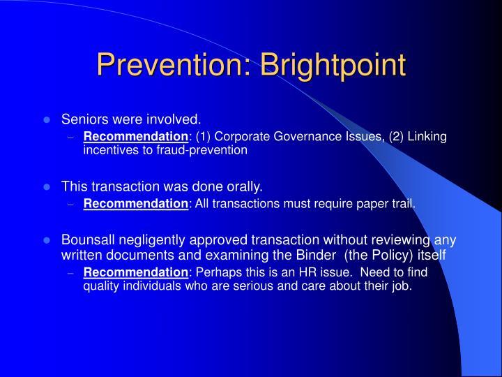 Prevention: Brightpoint