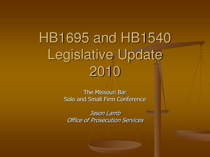 HB1695 and HB1540