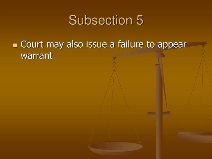 Subsection 5