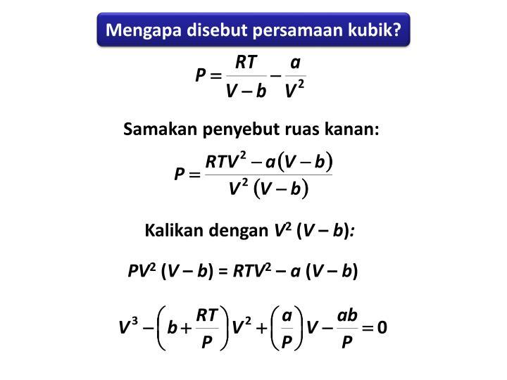 Mengapa disebut persamaan kubik?