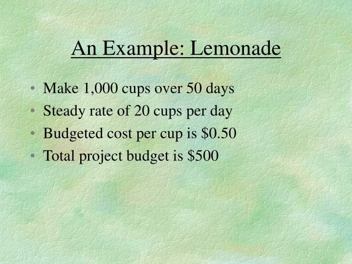 An Example: Lemonade