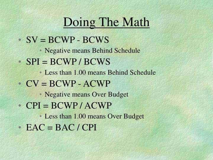 Doing The Math