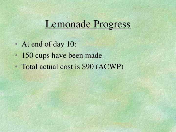 Lemonade Progress