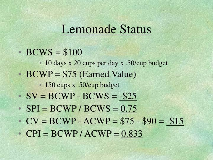 Lemonade Status