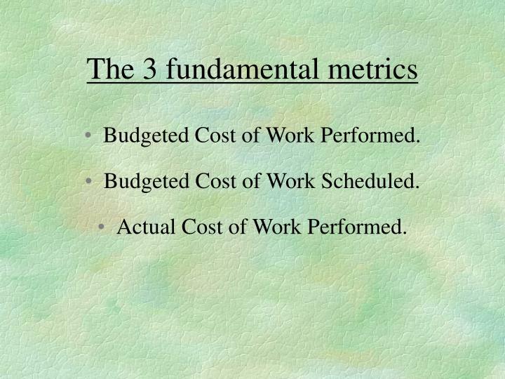 The 3 fundamental metrics