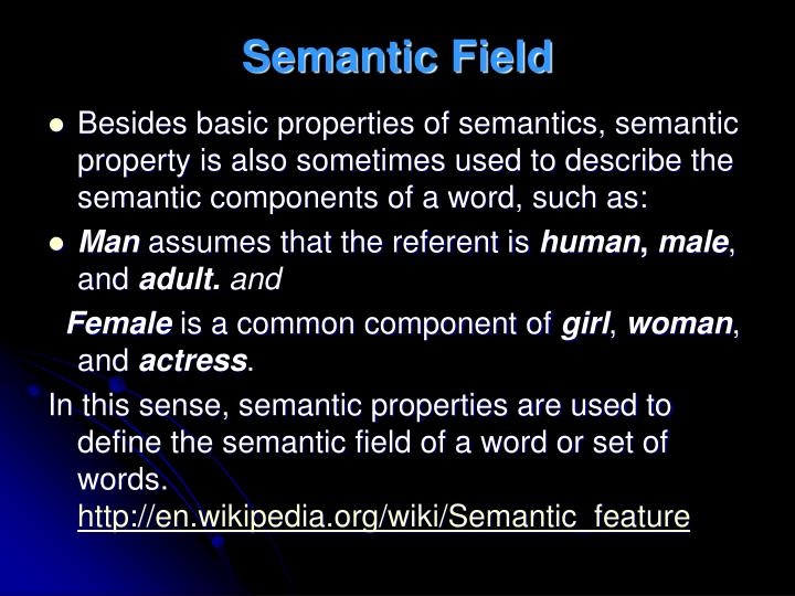 Semantic Field