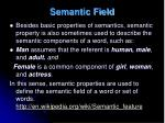 semantic field