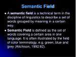 semantic field1