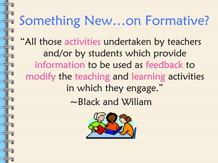 Something New…on Formative?
