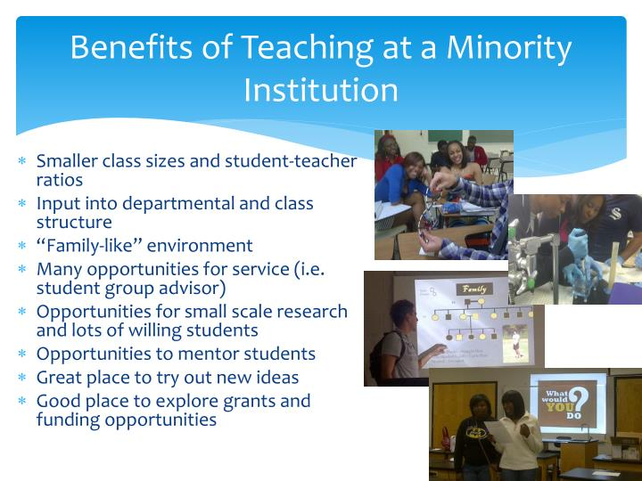 Benefits of Teaching at a Minority Institution