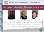 welcome to the cirtl network s virtual coffee hour