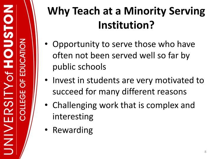 Why Teach at a Minority Serving Institution?