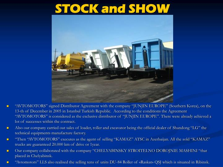 STOCK and SHOW