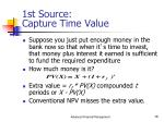 1st source capture time value
