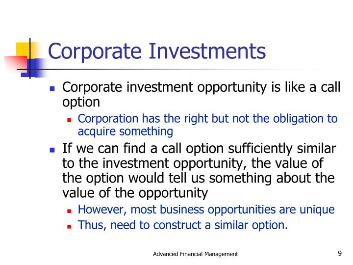 Corporate Investments