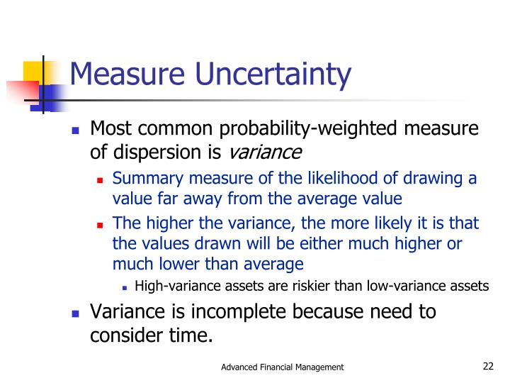 Measure Uncertainty