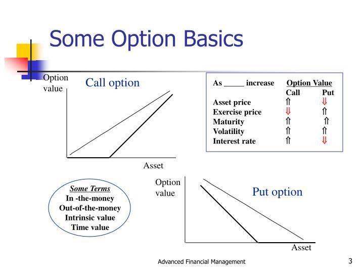 Some Option Basics