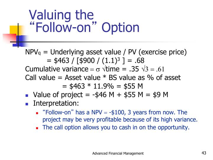 Valuing the