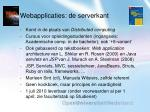 webapplicaties de serverkant