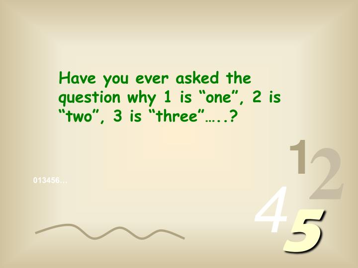 """Have you ever asked the question why 1 is """"one"""", 2 is """"two"""", 3 is """"three""""…..?"""