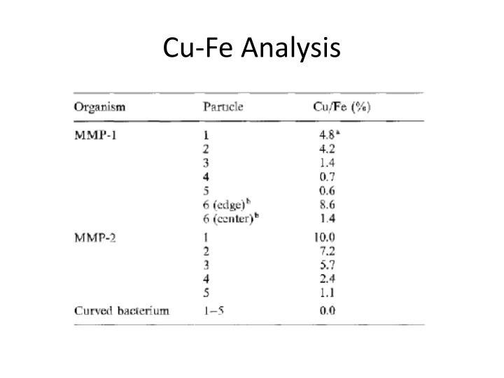 Cu-Fe Analysis