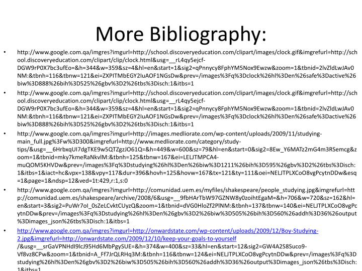 More Bibliography: