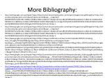 more bibliography